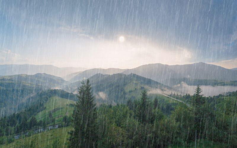 Chuva na natureza
