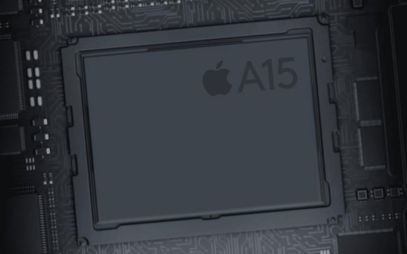 Ilustração do chip A15 Bionic