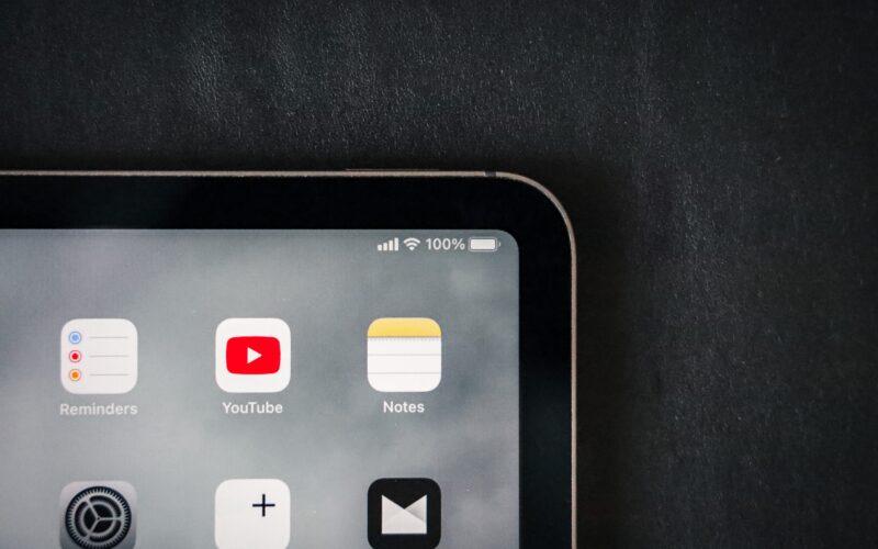 App Notas no iPad