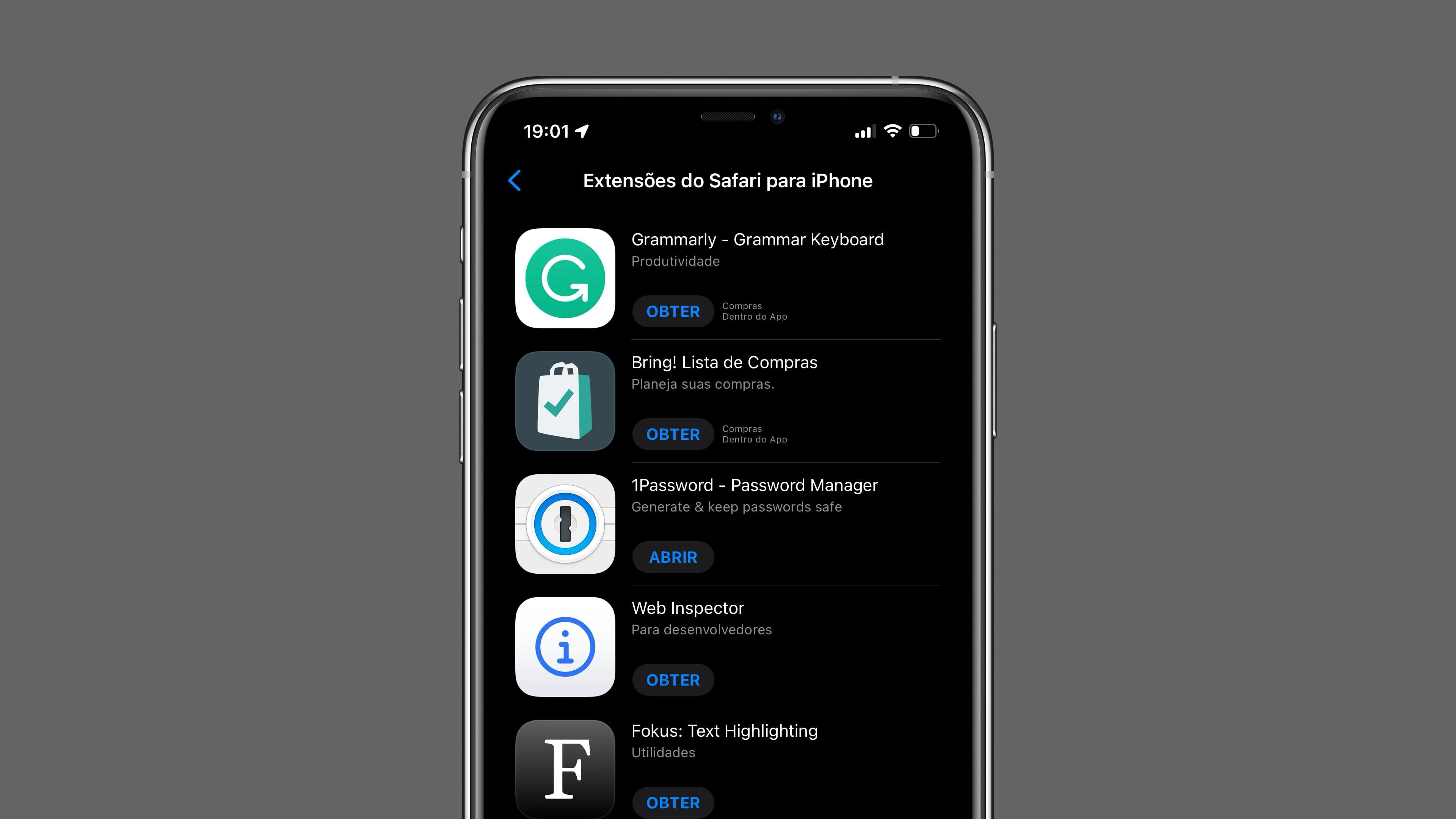Extensões para o Safari no IOS 15