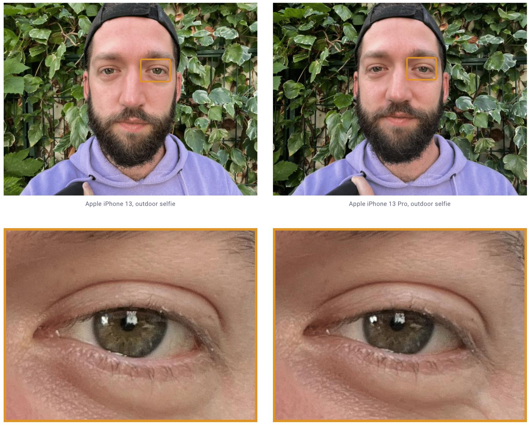 Teste com a câmera frontal do iPhone 13