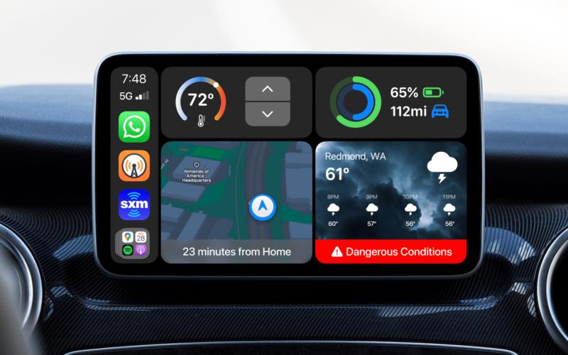 Conceito do CarPlay - Parker Ortolani (9to5Mac)