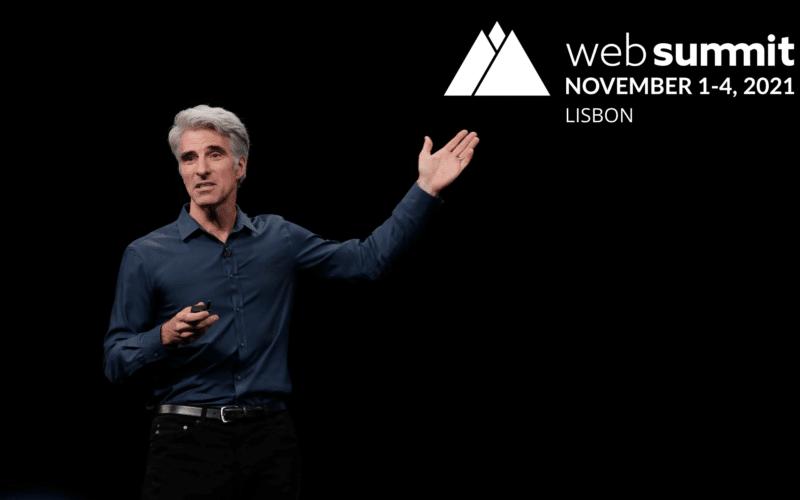 Craig Frederighi na Web Summit 2021, em Lisboa