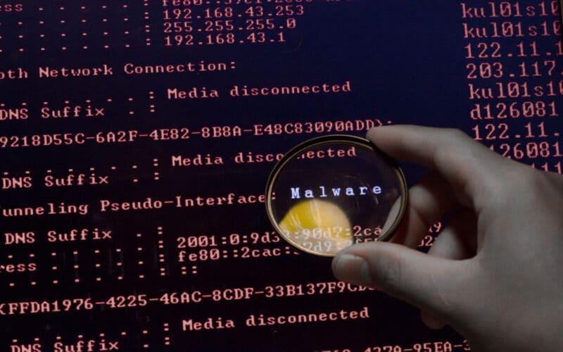 Malware em uma tela