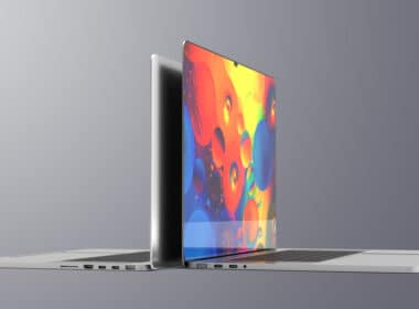 Render de MacBook Pro com notch