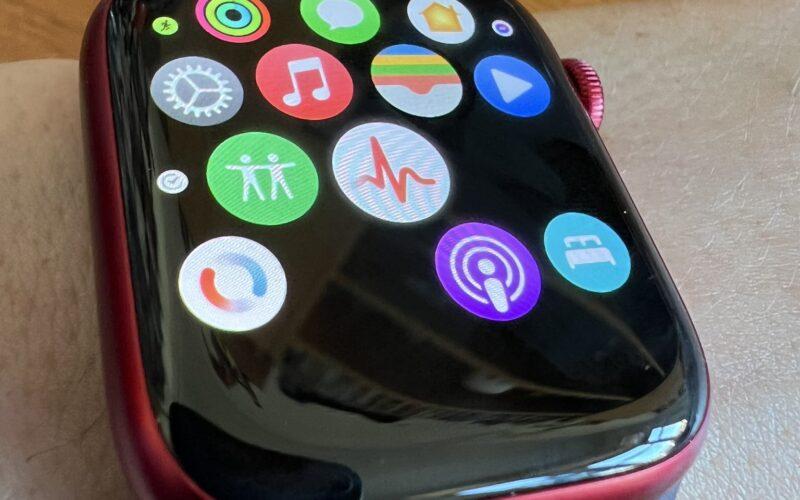 Ícones faltando no Apple Watch Series 7