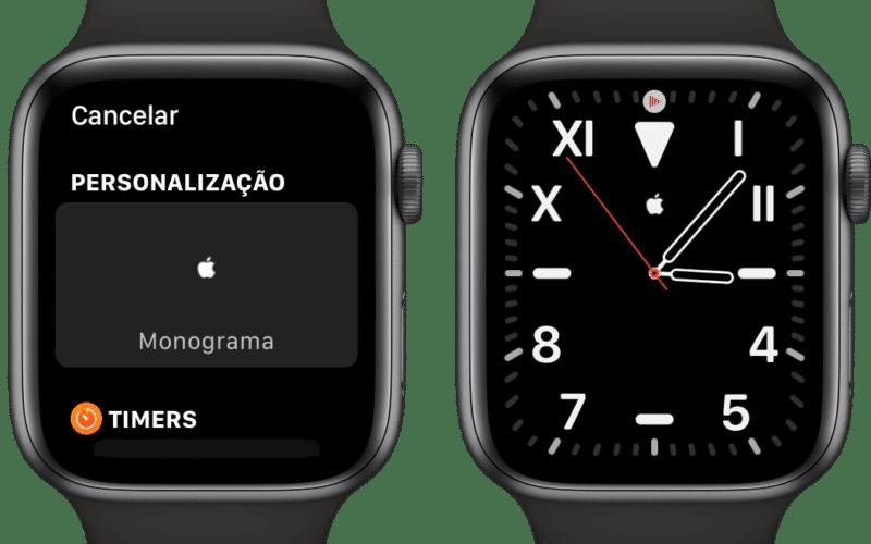Adicionando a complicação Monograma no Apple Watch