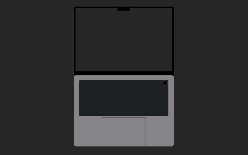 Conceito de MacBook Pro com notch