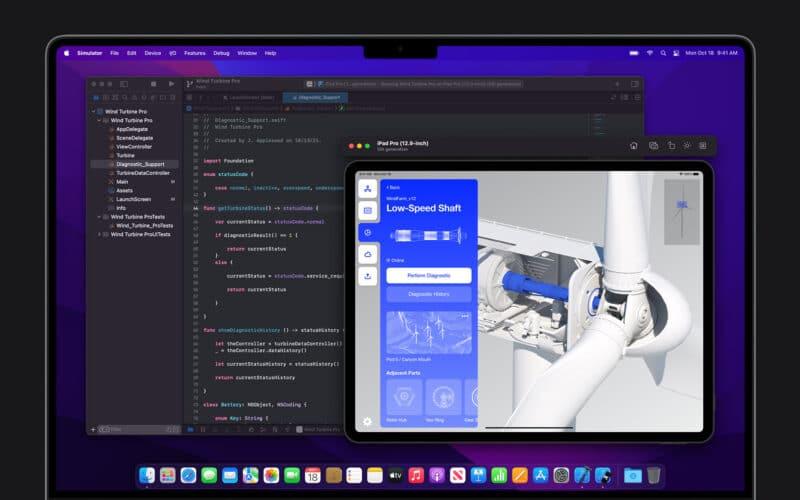 App explorando área em volta do notch dos MacBooks Pro