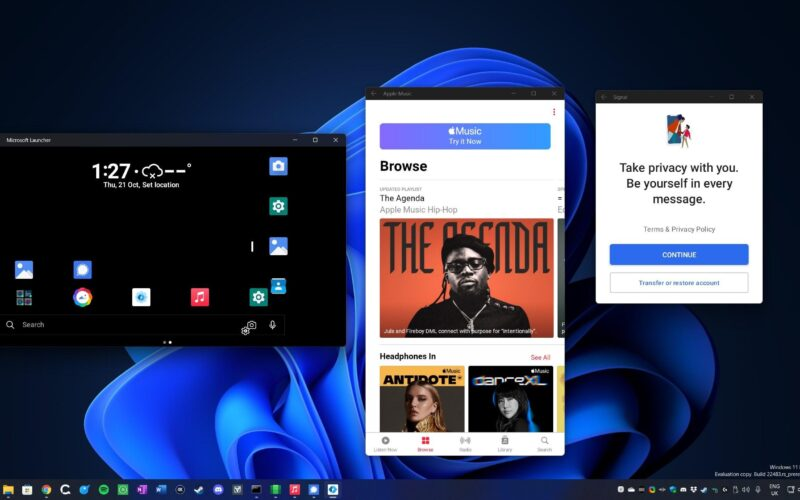 Apple Music no Windows 11