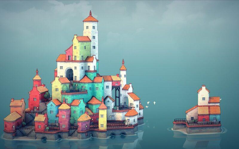 Jogo Townscaper - Captura de tela
