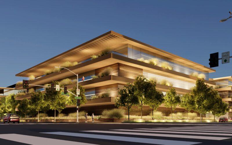 Render de novo campus da Apple em Culver City (Los Angeles)