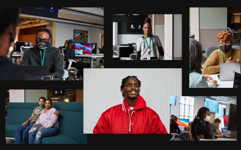 Apple Developer Academy em Detroit com alunos