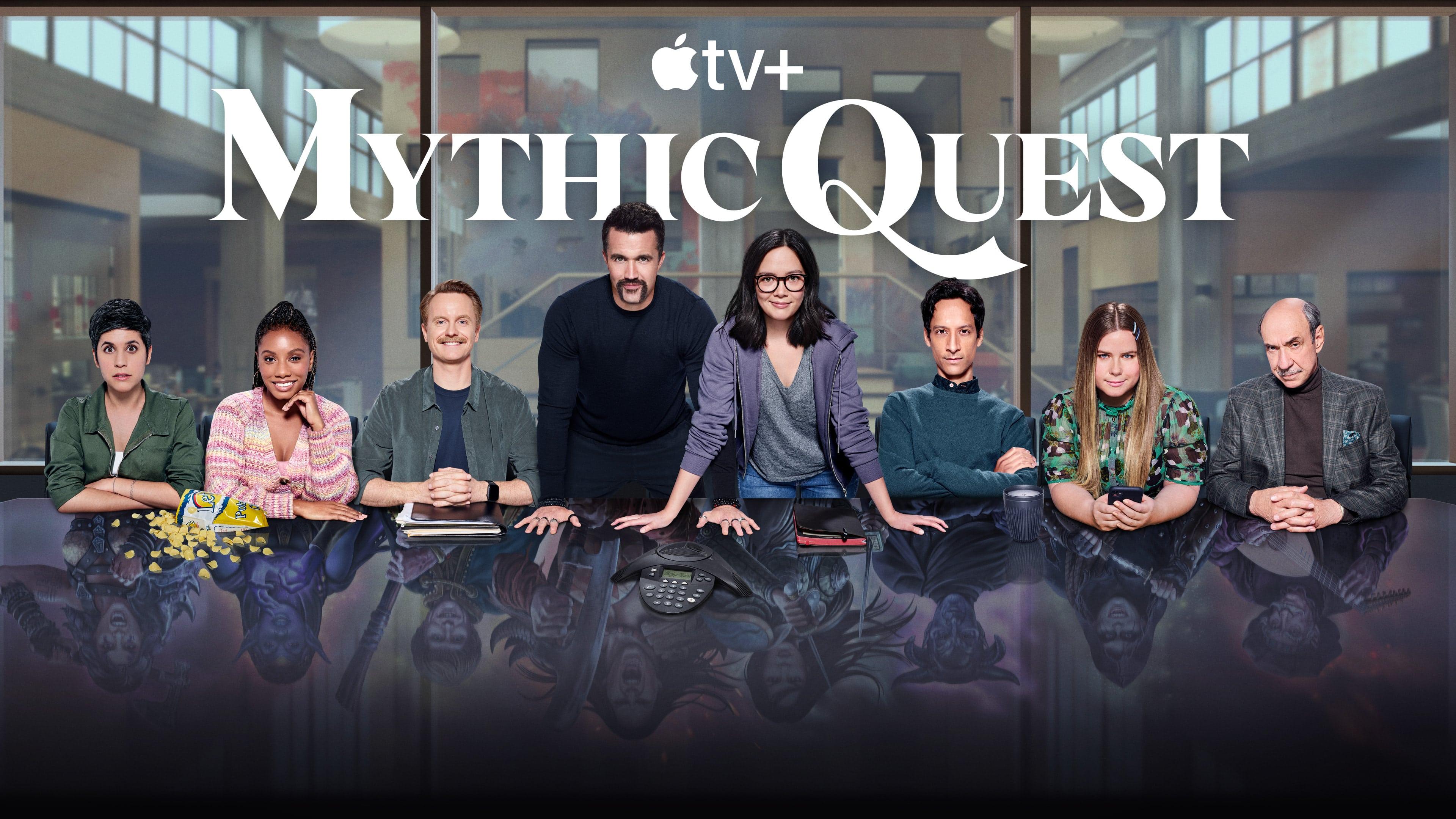 """Arte da série """"Mythic Quest"""" do Apple TV+"""