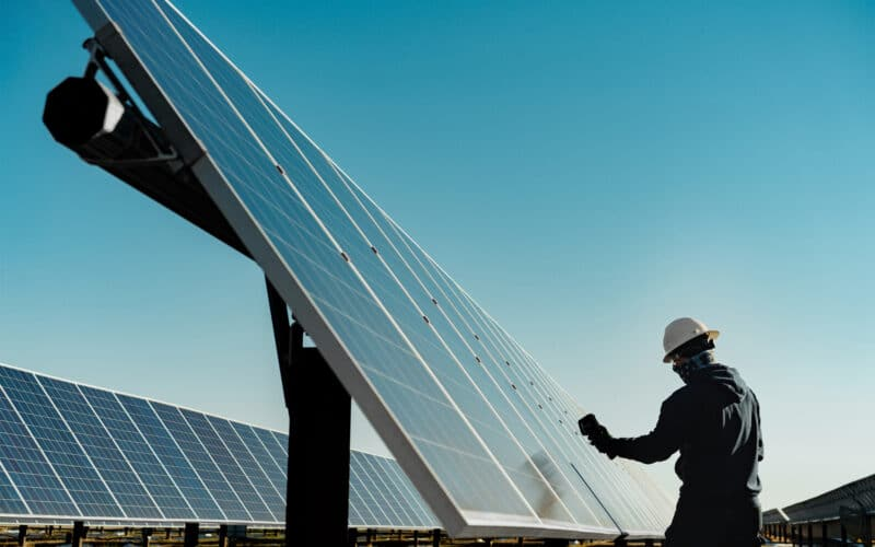 Apple e energia limpa, placas solares
